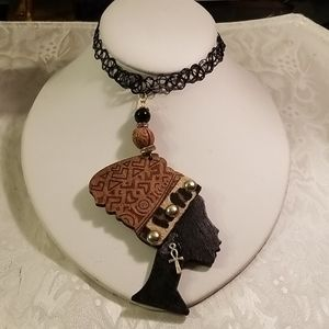Jewelry - Black simulated tattoo African queen choker
